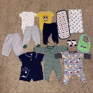 Baby Boy Clothes Lot 3M